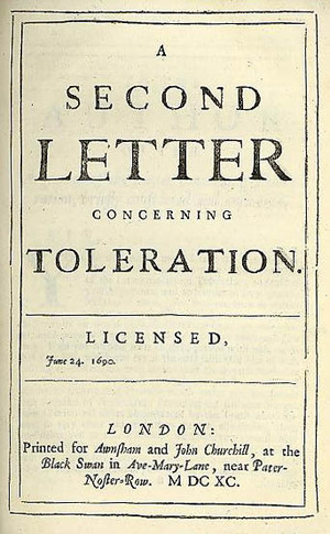 philosophical john locke view religious tolerance Locke and bayle on religious toleration  both locke's and bayle's views on religious toleration may not only have their  philosophy, religion and reception .