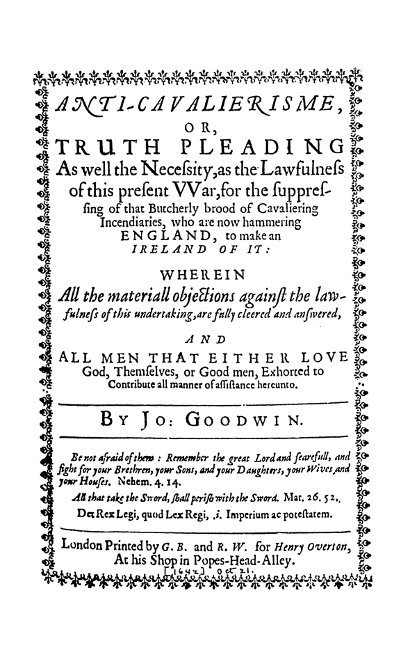 Tracts On Liberty By The Levellers And Their Critics Vol 1 1638