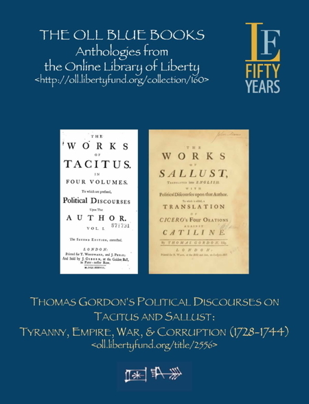Gordon S Discourses On Tacitus And Sallust Online Library Of Liberty