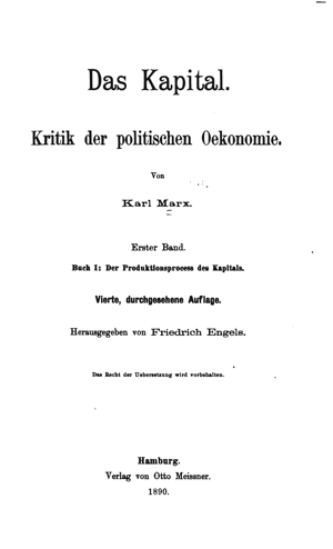 Marx, Das Kapital Buch 1 (1890) Online Library of Liberty