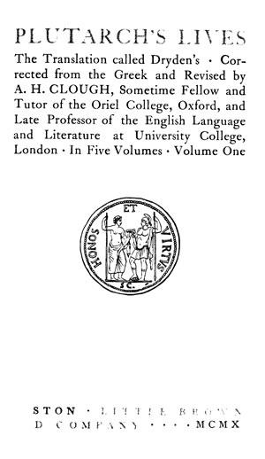 Plutarch's Lives (Dryden trans.)