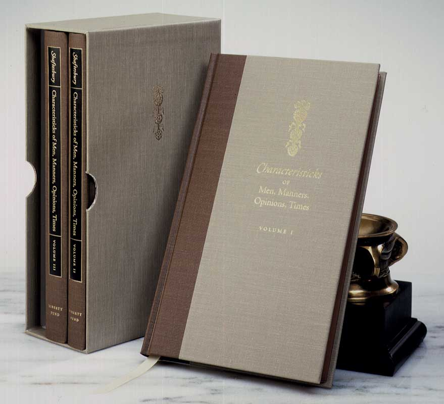 Characteristicks of Men, Manners, Opinions, Times, 3 vols.