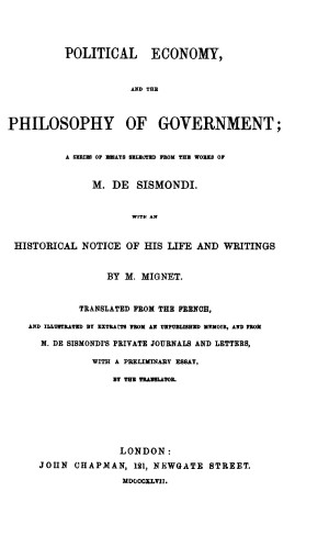 Political Economy and the Philosophy of Government