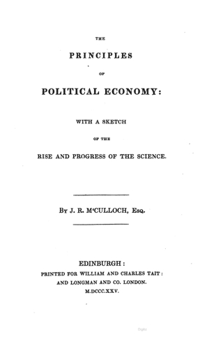 The Principles of Political Economy (1st ed. 1825)