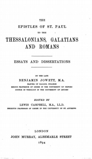 Essays On The Epistles Of St Paul Online Library Of Liberty For this reason it is used for calculations on the effect of center of mass is calculated using a reference point outside. essays on the epistles of st paul